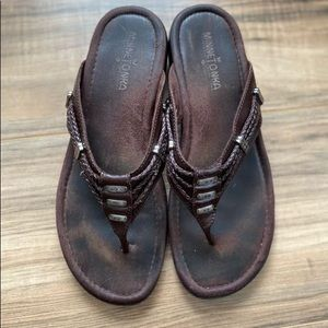 Minnetonka leather sandals size 8